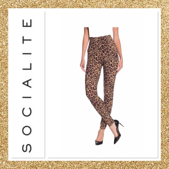Socialite Pants - Socialite Leopard Print Leggings